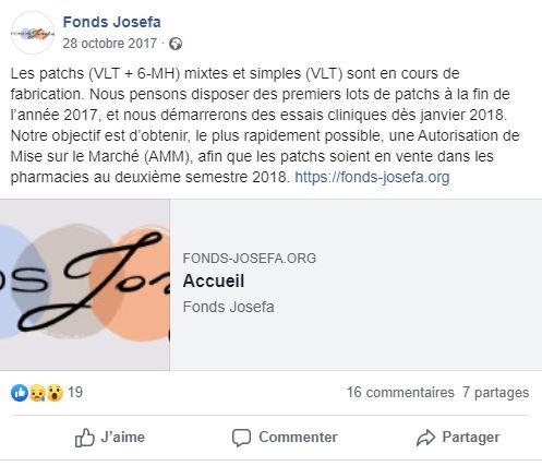 Publication facebook Fonds Josefa