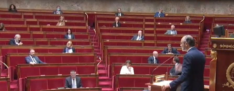 Edouard Philippe à l'Assemblée nationale mardi 28 avril 2020 (capture d'écran)