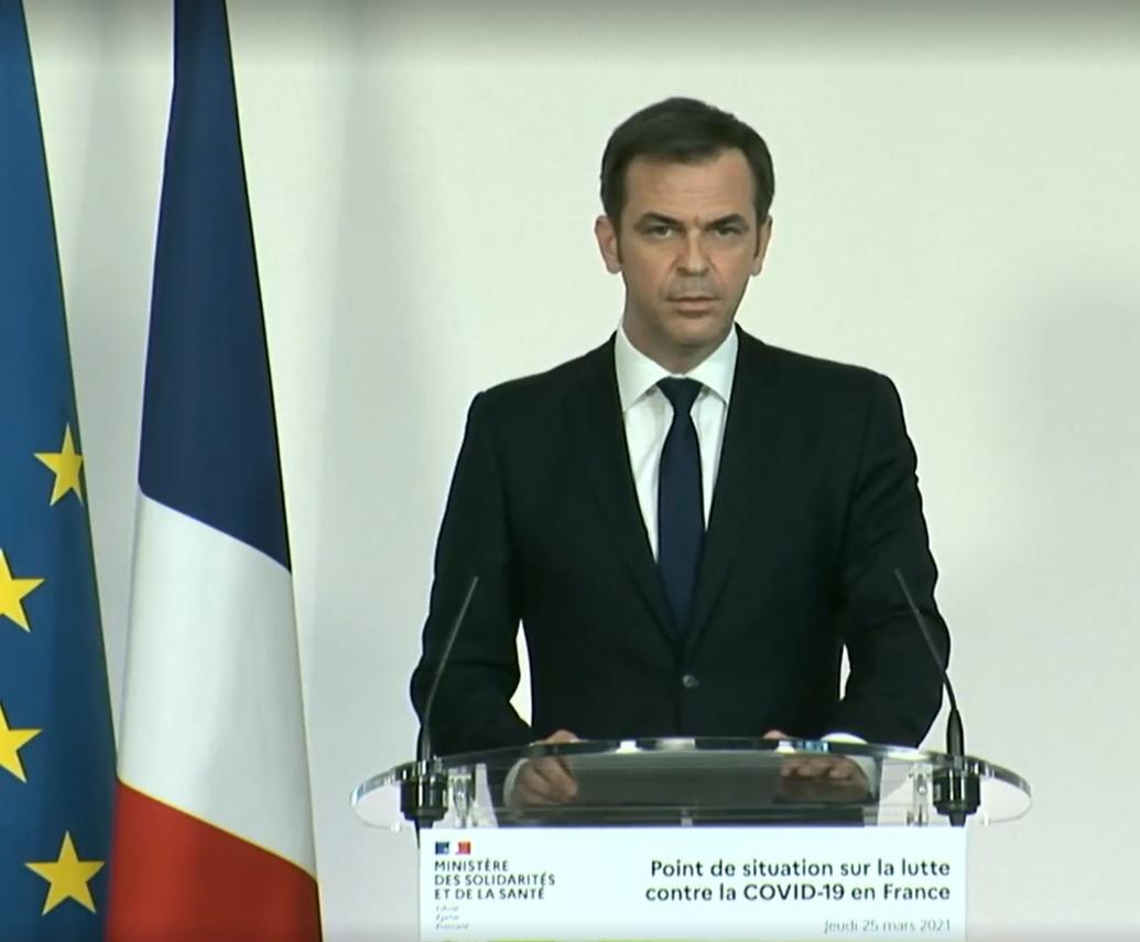 Olivier Véran, le 25 mars 2021 - capture d'écran