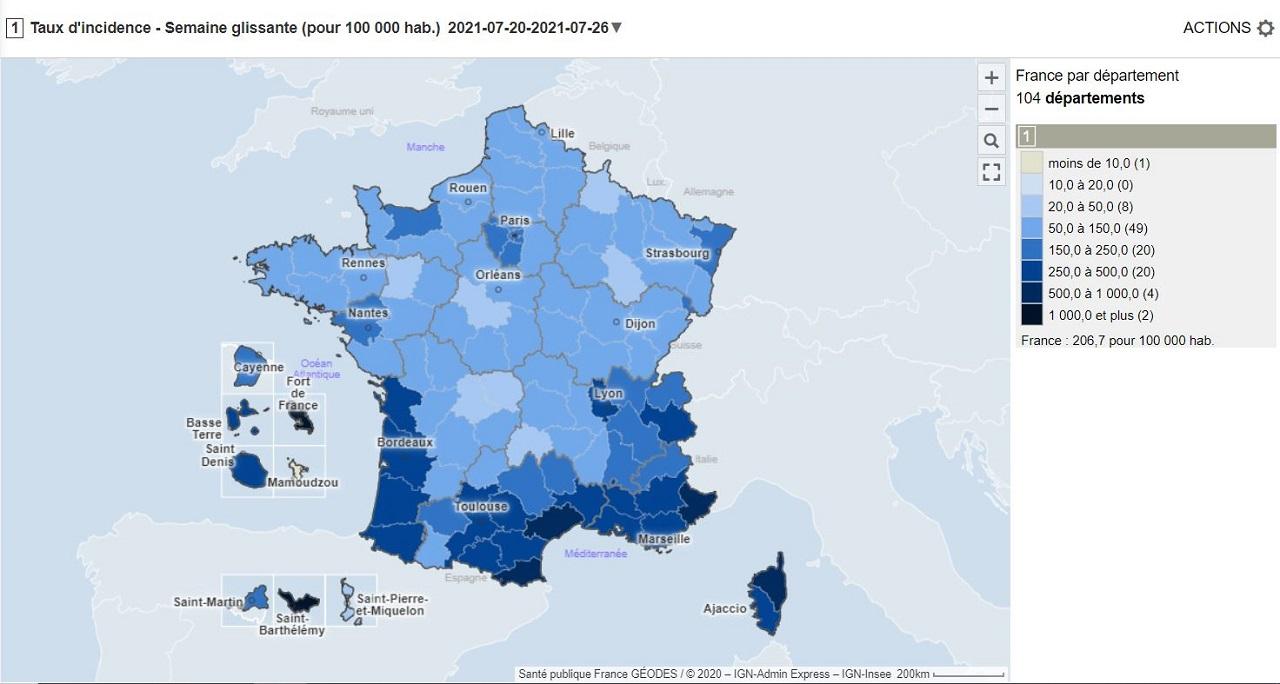 source: Géodes (données pour la période du 20 au 26 juillet)